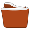 Red Orange Folder Png Icon