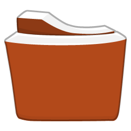 Red Orange Folder