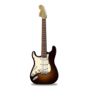 Stratocaster guitar orange Png Icon