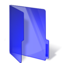 Dark Blue Folder Png Icon