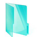 Teal Folder Png Icon