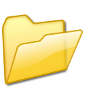 Open Folder yellow Png Icon