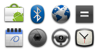 Android 2.2 Official Icons thumbnails