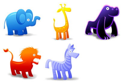 animal-toys icons thumbnails