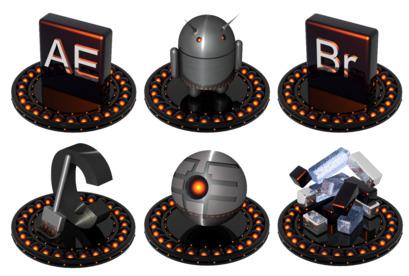 black-and-orange icons thumbnails