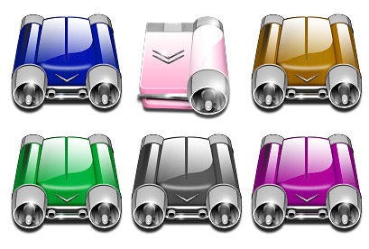 car-drives icons thumbnails