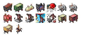 circus-parade icons thumbnails