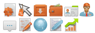 content-management-system icons thumbnails