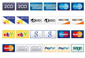 Credit Card, Debit Card and Payment Icons thumbnails