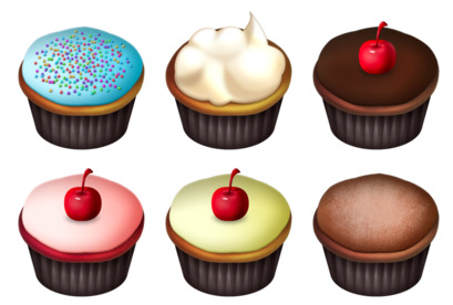 cupcakes icons thumbnails