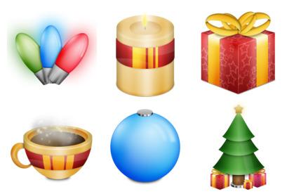 festive icons thumbnails
