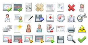 Free Medical Icons Set thumbnails