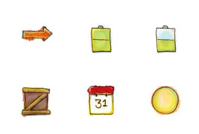 free-watercolor icons thumbnails