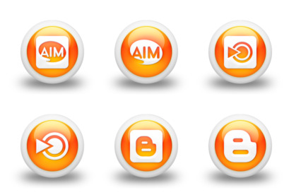 glossy-orange-orb-social-media icons thumbnails