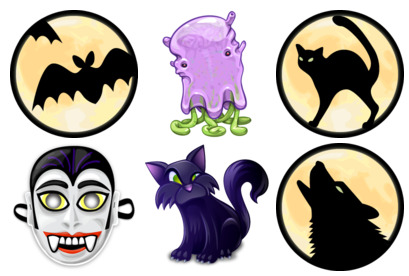 halloween-2009 icons thumbnails