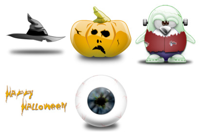 halloween icons thumbnails