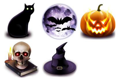 hallowen icons thumbnails