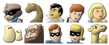 Hanna Barbera's Heroes thumbnails