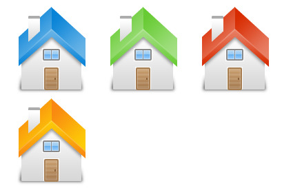 houses icons thumbnails