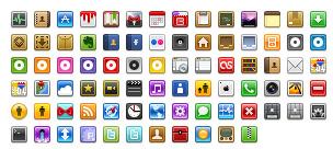 iPhone style sidebar icons thumbnails