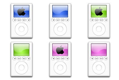 iPod Colors thumbnails