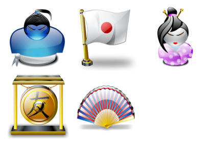 japanese-tradition icons thumbnails