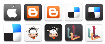 mini-social-networking icons thumbnails