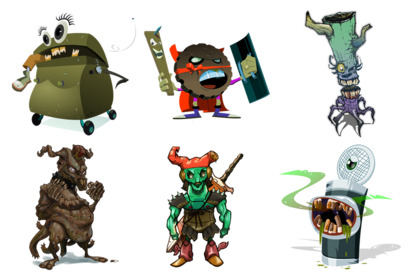 Monsters thumbnails