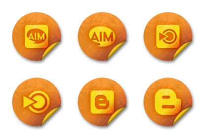 Orange Stickers Social Media thumbnails