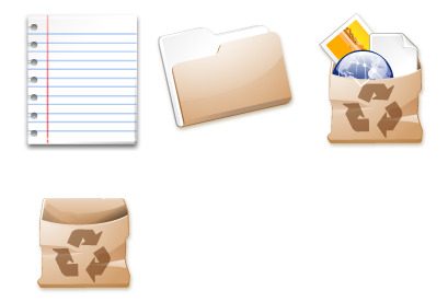 paper icons thumbnails