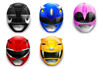 Power Rangers thumbnails