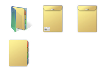 Project Folders thumbnails