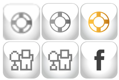 social-media icons thumbnails