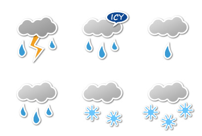 sticker-weather icons thumbnails