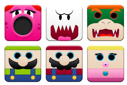 super-mario-1 icons thumbnails