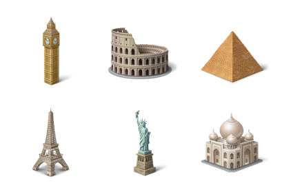 tourism icons thumbnails