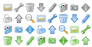 web-control icons thumbnails