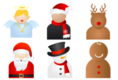 xmas-people icons thumbnails