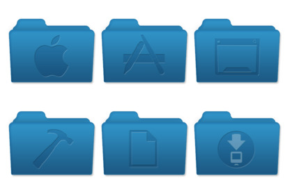 Mac OS X Style Folders Icons Pack Free Download, Free Mac OS