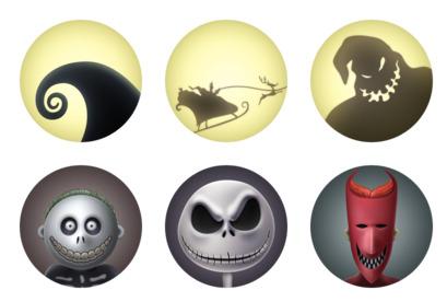 Nightmare Before Christmas Icons.The Nightmare Before Christmas Icons Pack Free Download